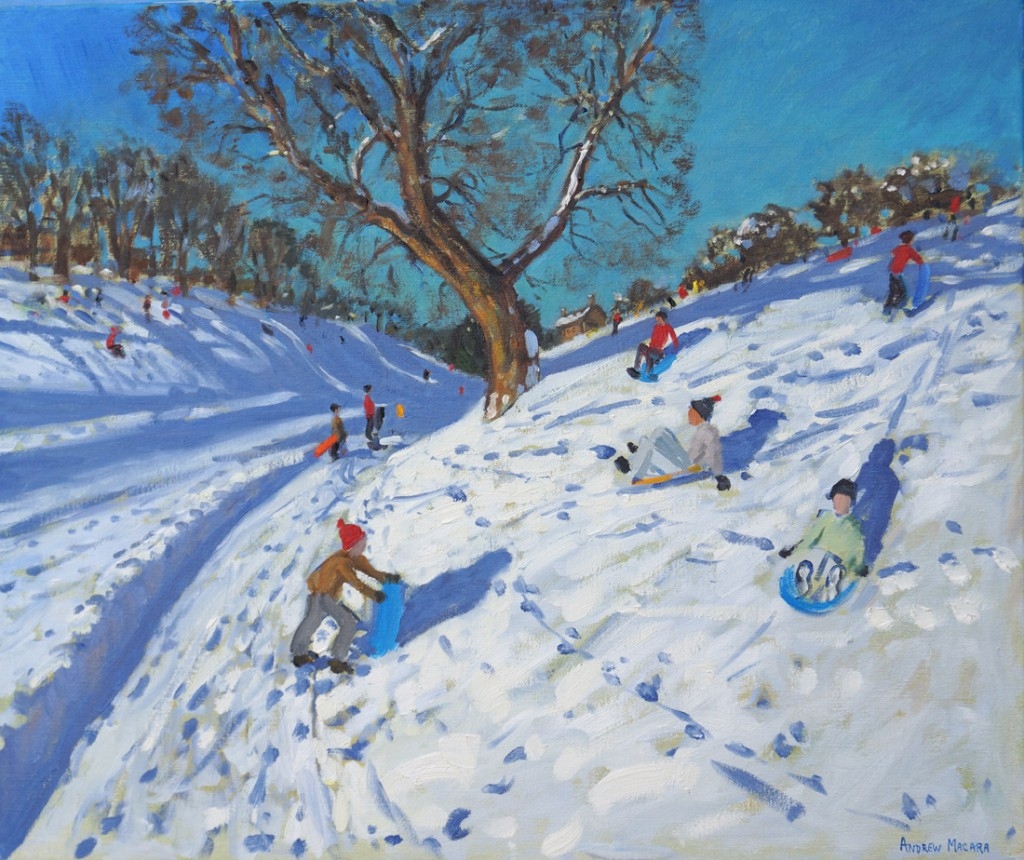 Andrew Macara, Bright morning, Winter,Chatsworth