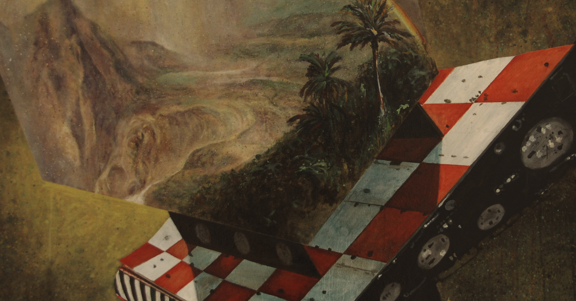 Geoff Diego Litherland, Hold us still when everything spins, 2012, Oil on Canvas, 100 x 140cm, £1,850