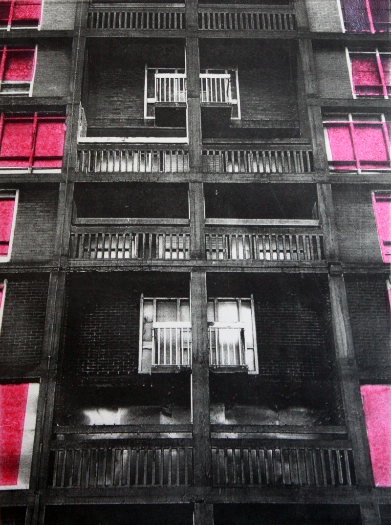 Park Hill (Lithograph and monoprint)