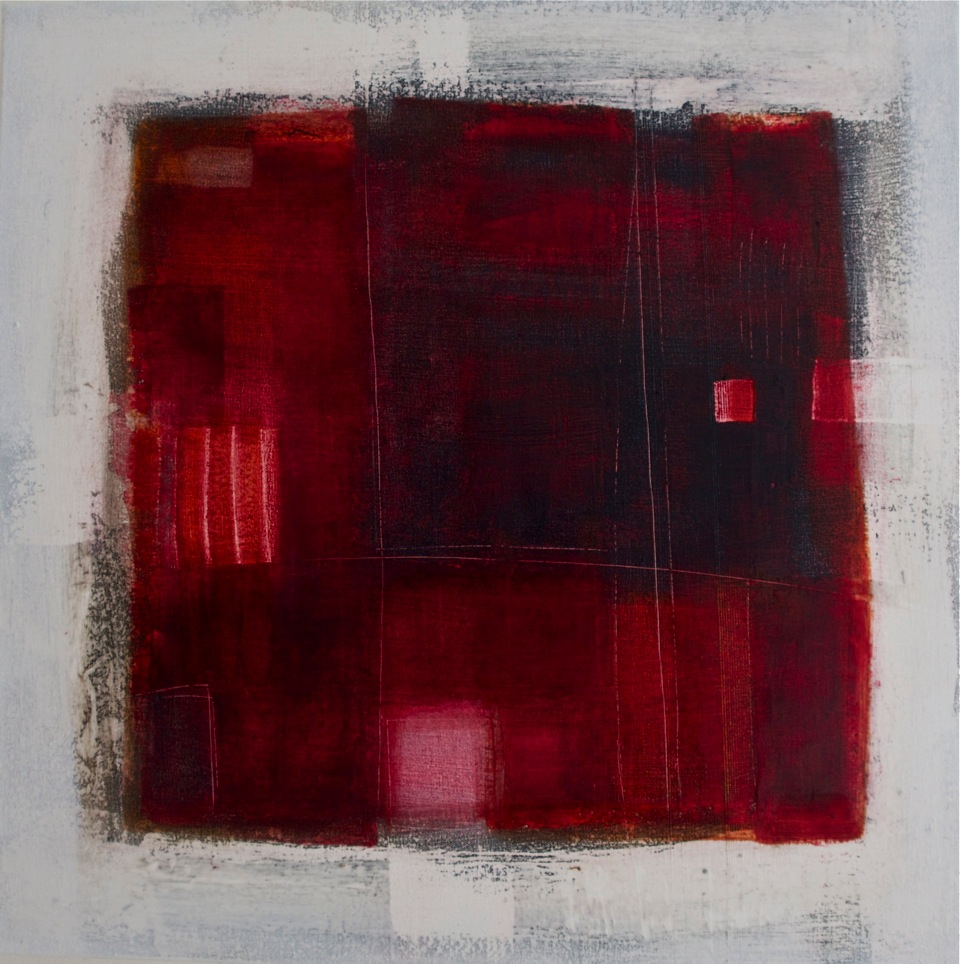 Finding a room, 50cm x 50cm, oil and wax on canvas, £875