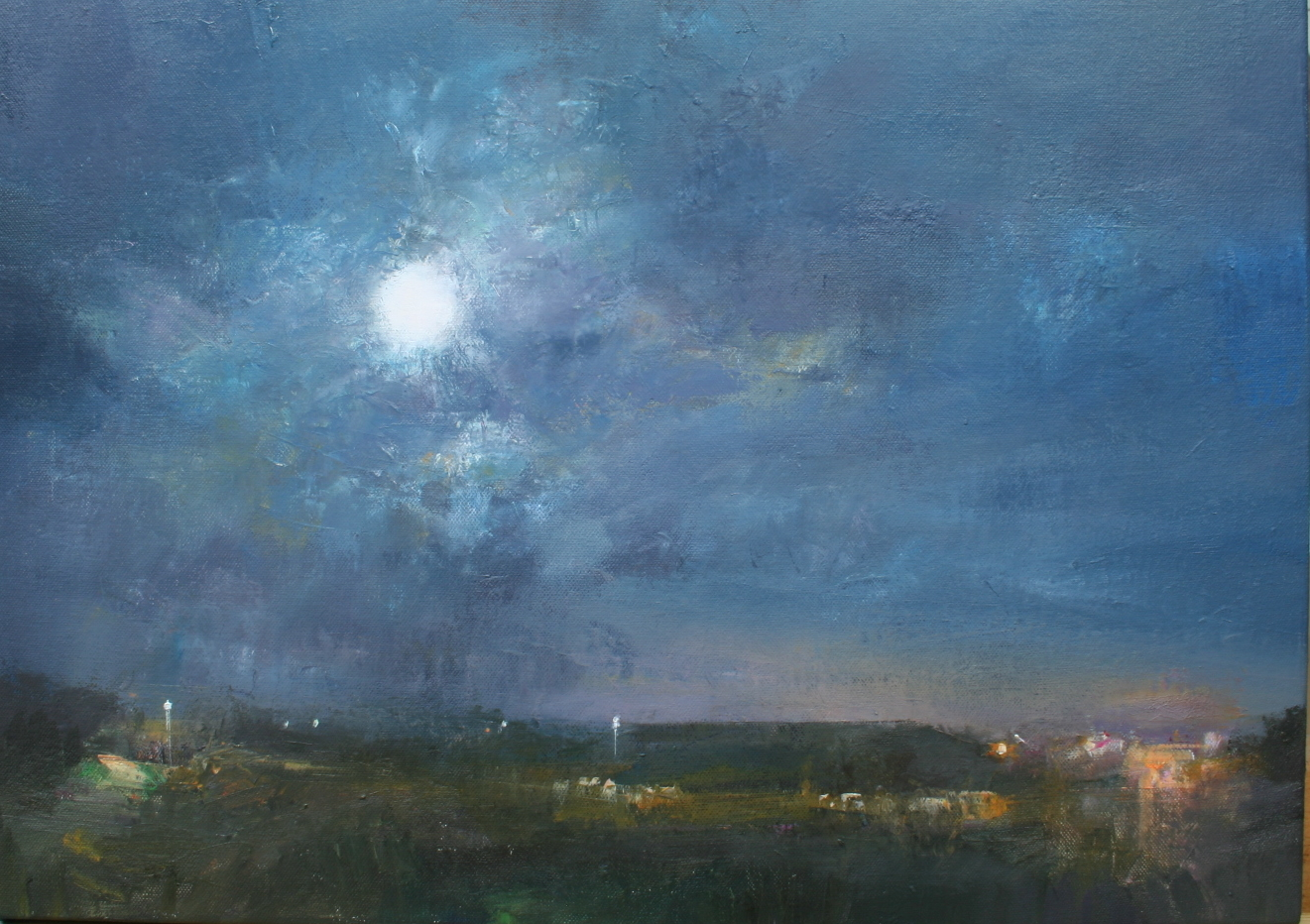 "Night Theme - Birdcage Walk, Nottingham Oil on Canvas, 14 x 10"", £950 - Sold"