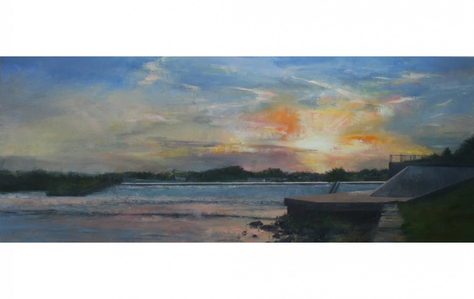 Early Evening, Beeston Weir