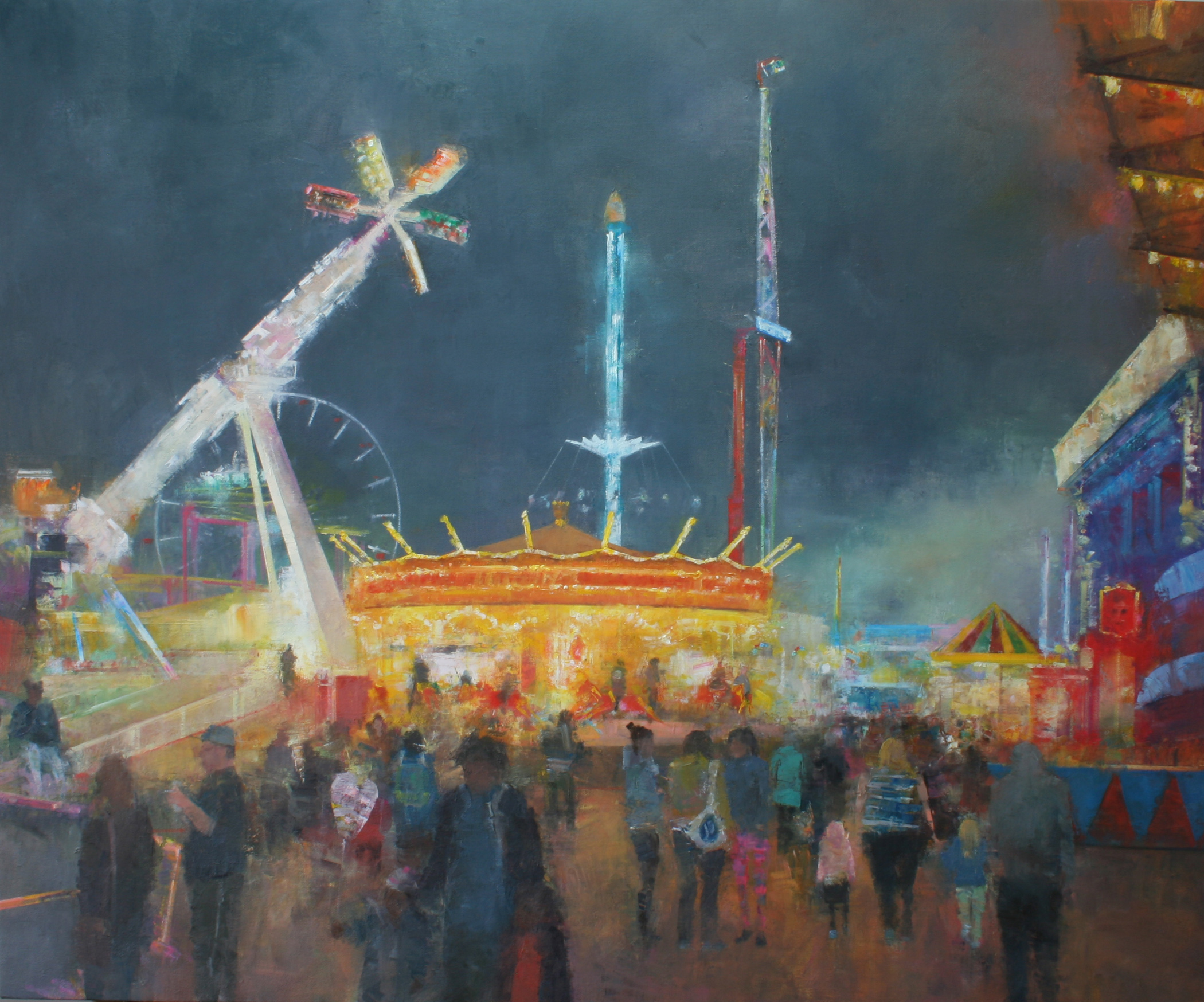 "Goose Fair II, Oil on canvas, 34 x 28"", £2,500 - Sold"