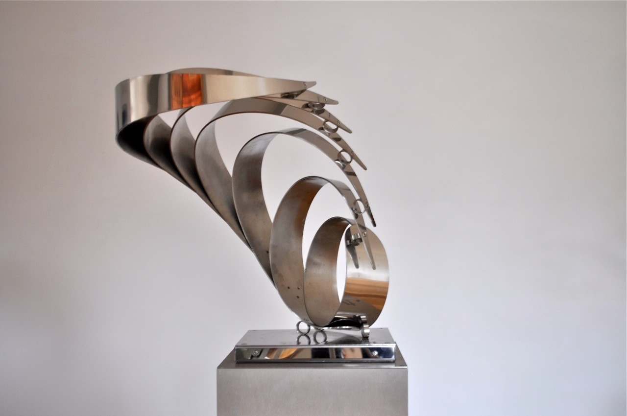 Seven Curves, polished stainless steel, H50  W48 D60 cms, £2,500