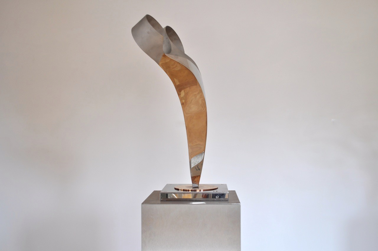 Arabesque Two, polished stainless steel and bronze, H59 W45 D30 cms, £2,800
