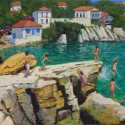 Andrew Macara, Jumping into the Sea, Skiathos, Greece