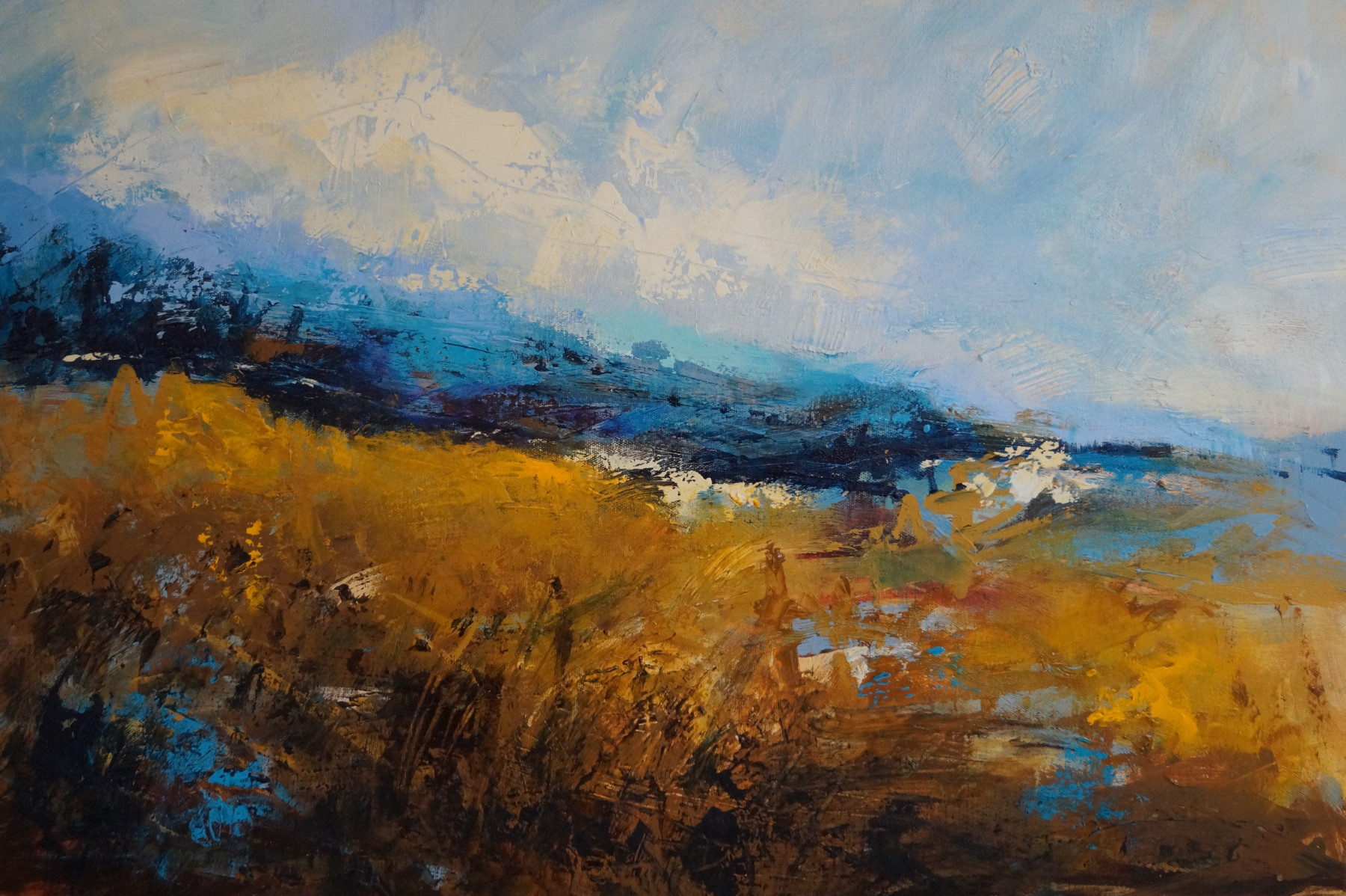 4 Hay Meadows and Turquoise Hills 79 x 55cm deep canvas