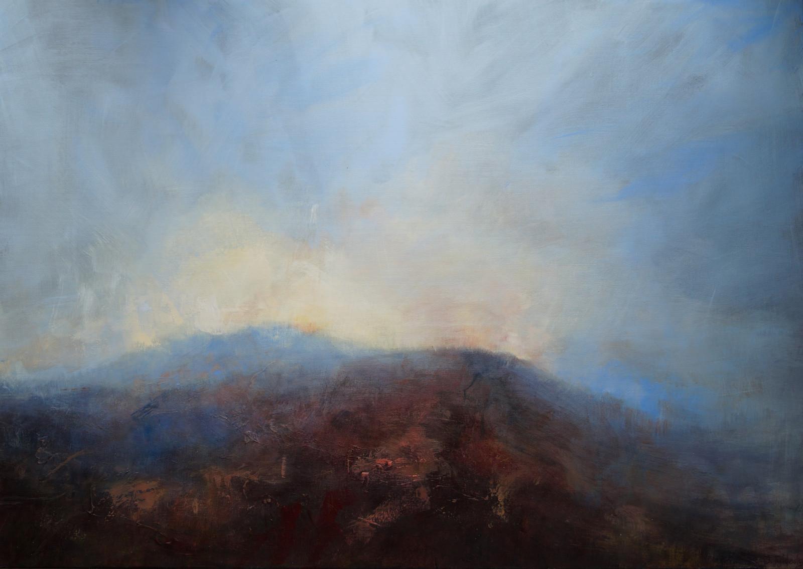 Evening Light over Higger Tor 103 x 73 deep canvas