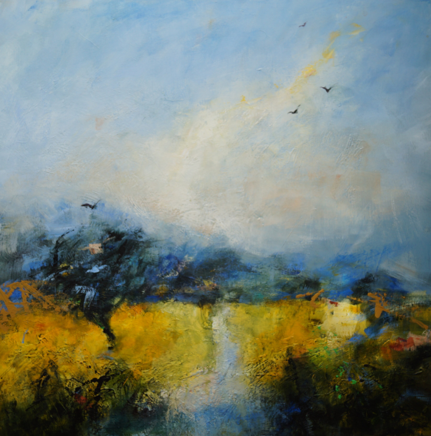 Pathway to Longshaw 79 x 79 deep canvas