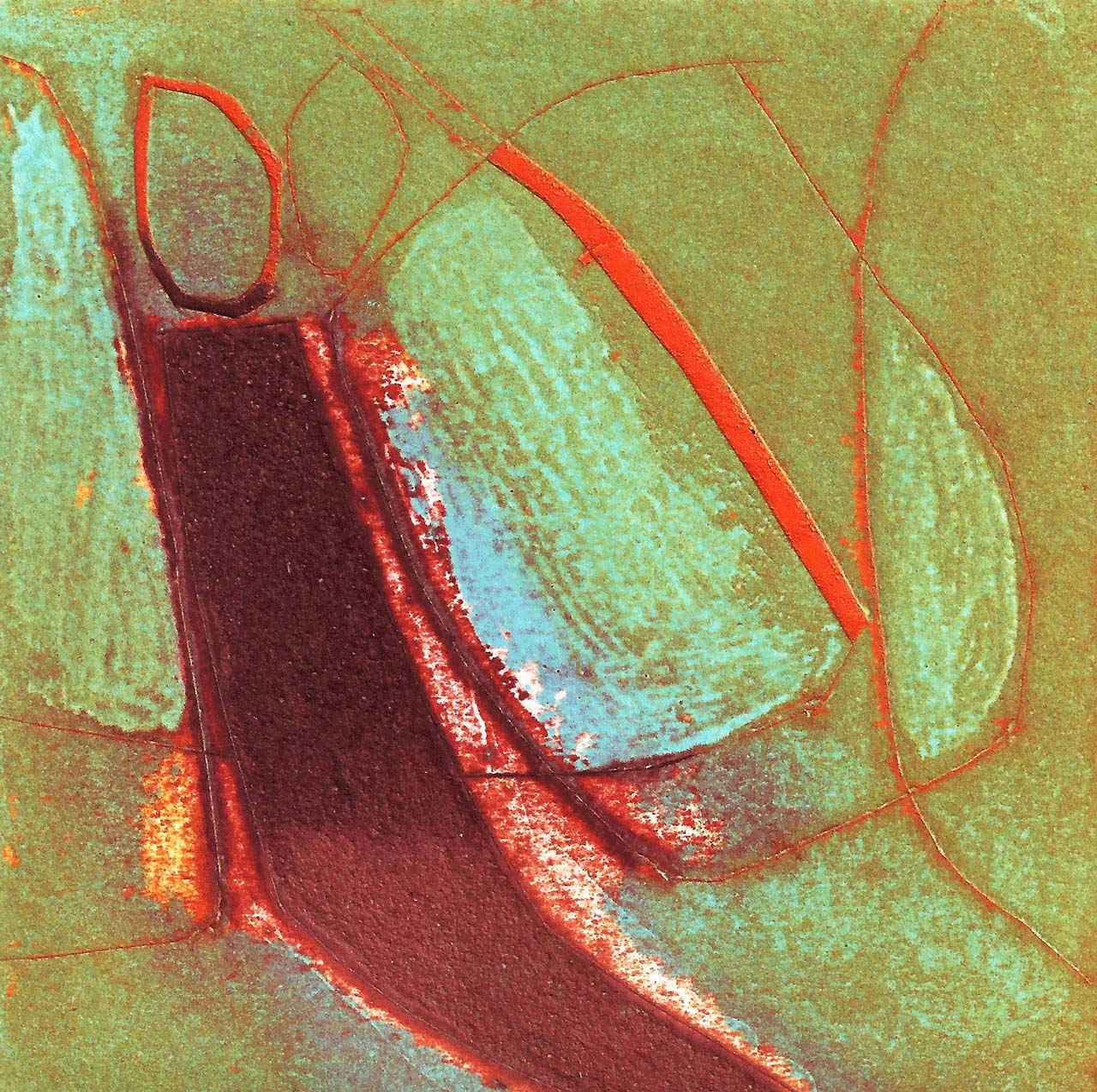 Fogou collagraph 10 x 10 cm