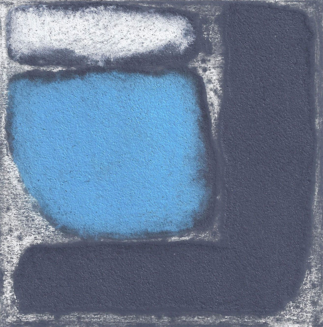 'Granite and Blue collagraph 10 x 10 cm