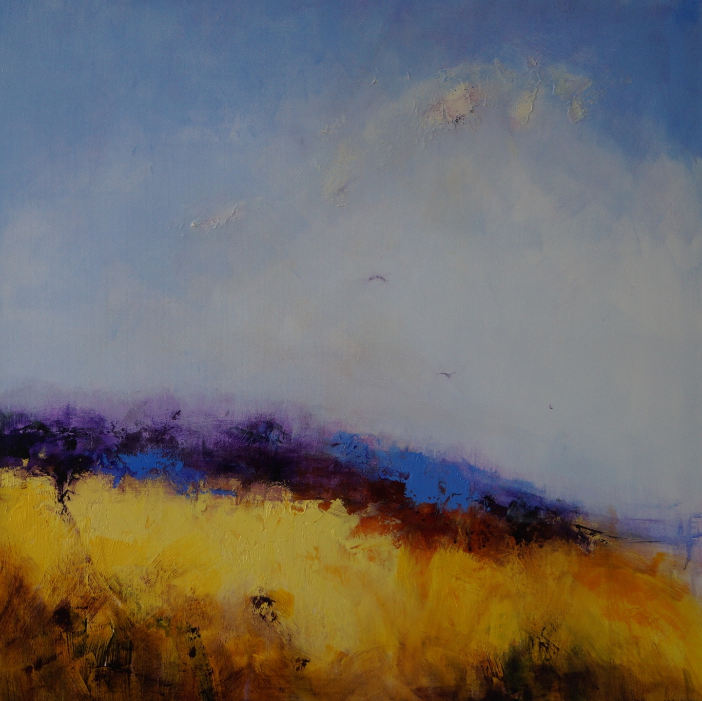2 Purple Moorland Rough Pasture 94 x 94cm