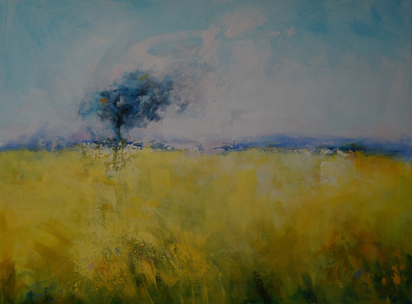 4 Solitary Windswept Tree 104 x 79cm