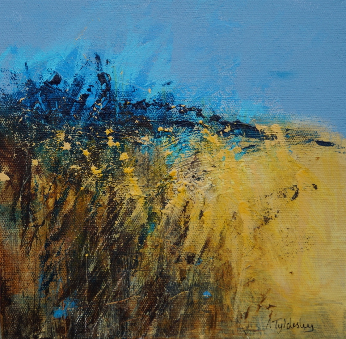 7 Turquoise Summer Sky 22 x 22cm