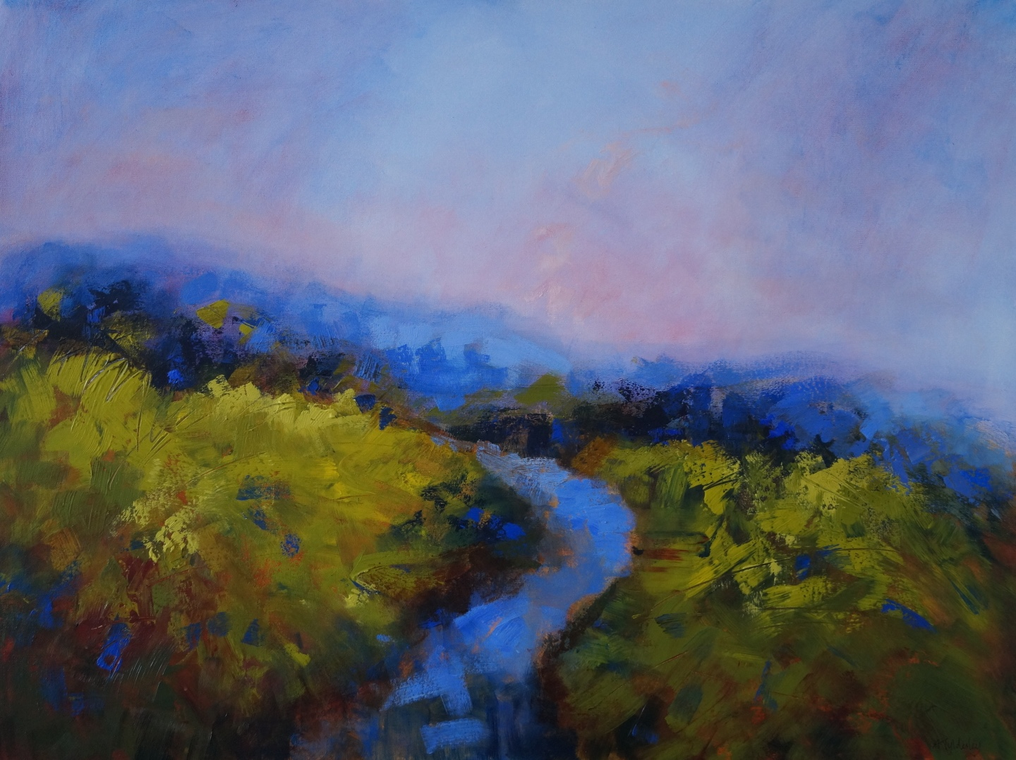 Blue River towards Lilac Sky 104 x 79cm