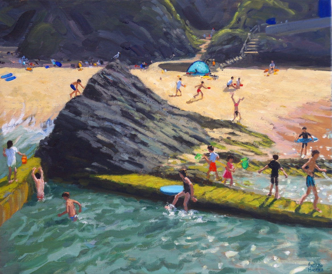 Sea pool,Towan beach,Newquay. 20x24""