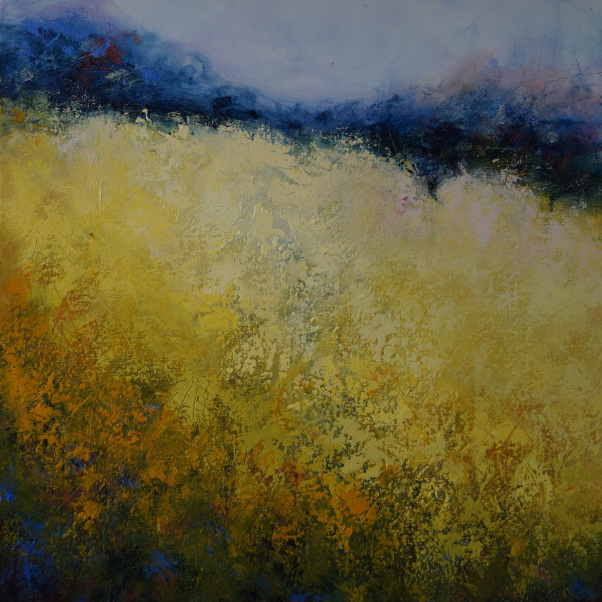 2 Pale Field towards Longshaw 94 x 94cm