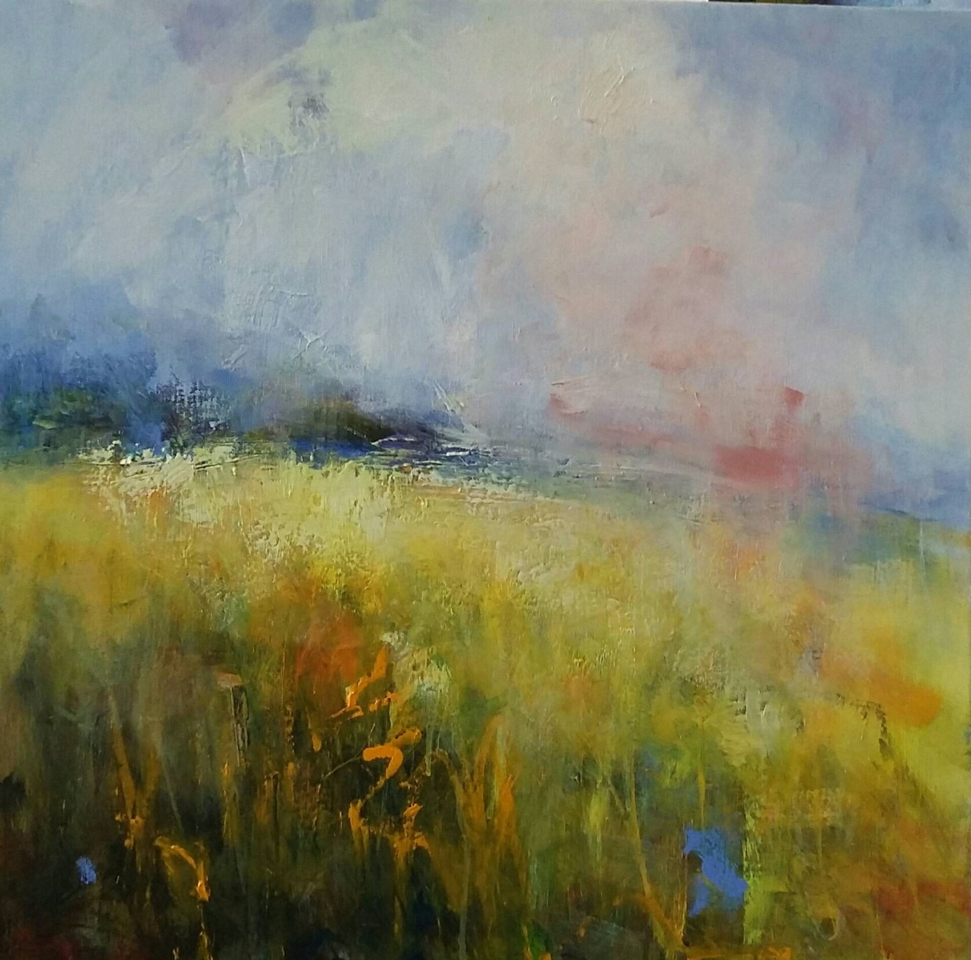 6 Flower Meadow and Pink Skies 63 x 63cm