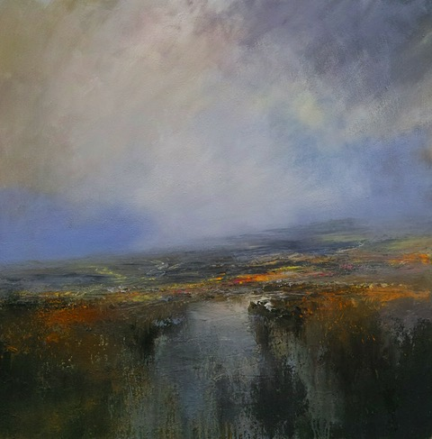 100cm x 100cm After Heavy Rain, Burbage Moor. £1960