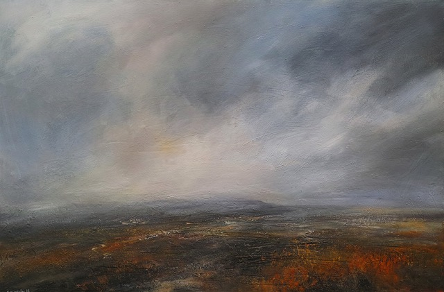 Kristan Baggaley, Evening Sun over Kinder Scout