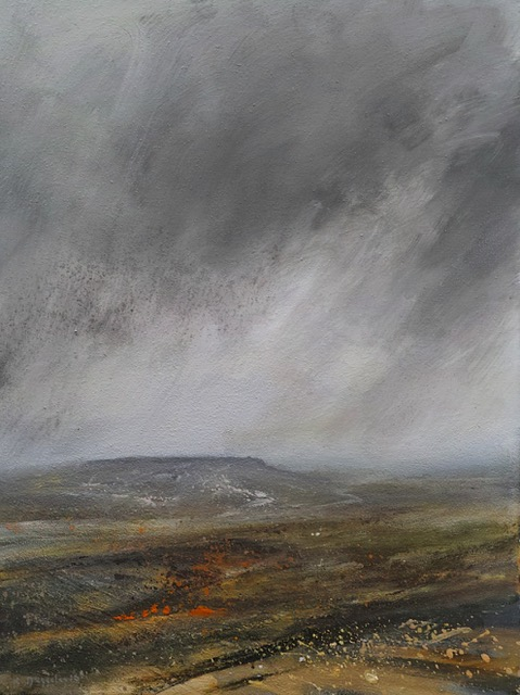 60cm x 45cm Rain over Kinder Scout £750