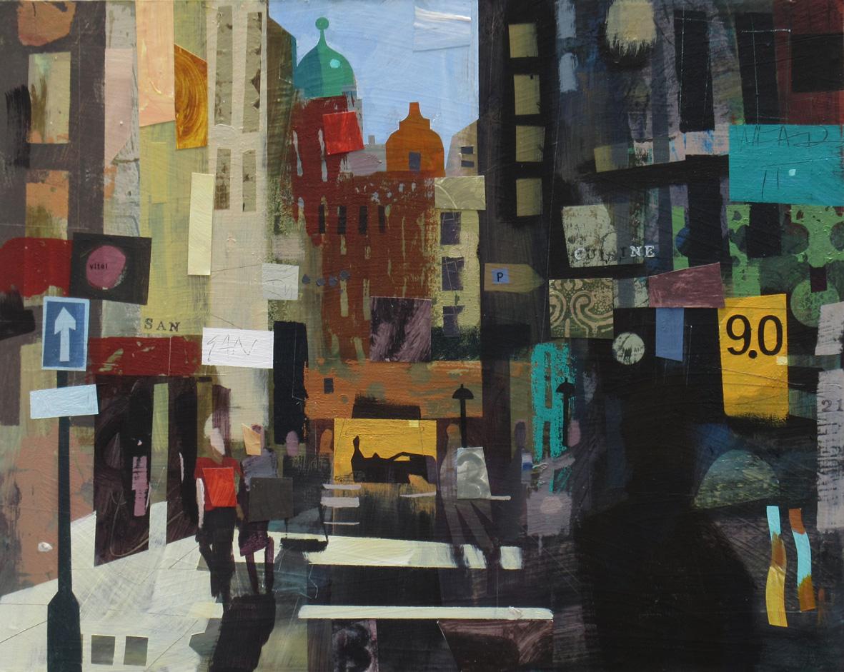 Berwick Street. Soho, Mixed Media, 40 x 50 cm, £800
