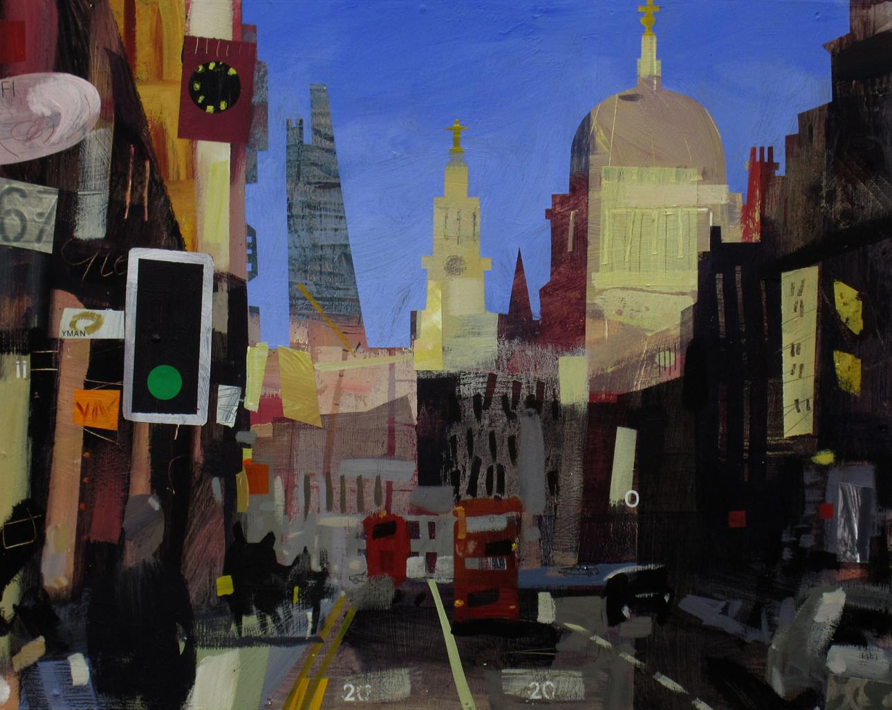 Fleet Street, Mixed Media, 40 x 50 cm, £800