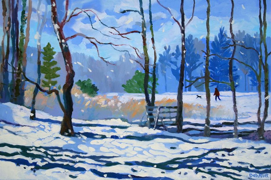 Deb Allitt, Snow and Sun, a Walk in the Park