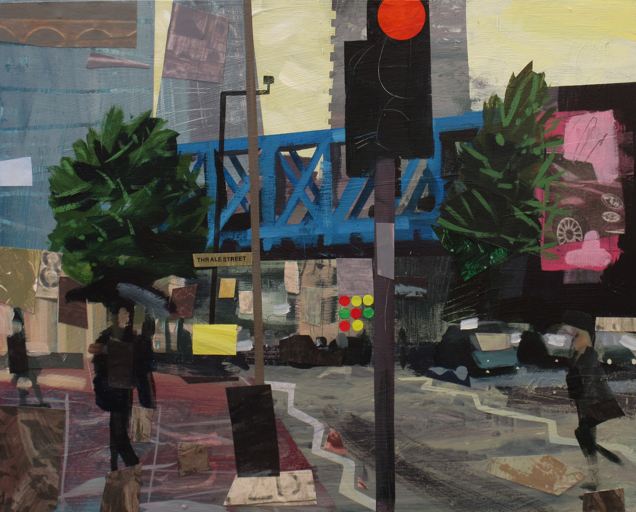 Southwark bridge road, Mixed Media, 40 x 50 cm, £800