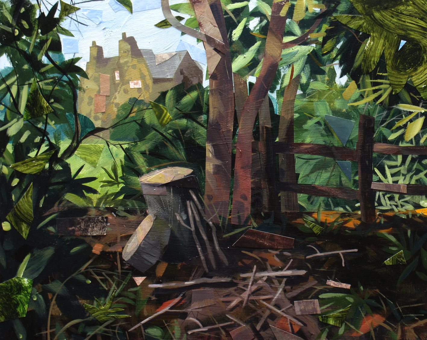 Peter Clayton, Stoneywell from the Woods