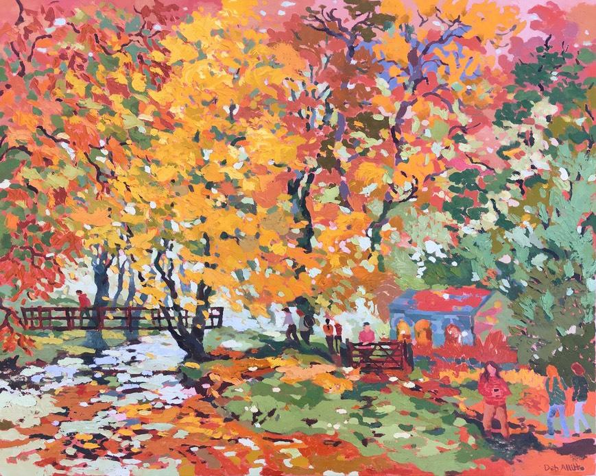 Deb Allitt, Flaming colours at coldeaton bridge dovedale