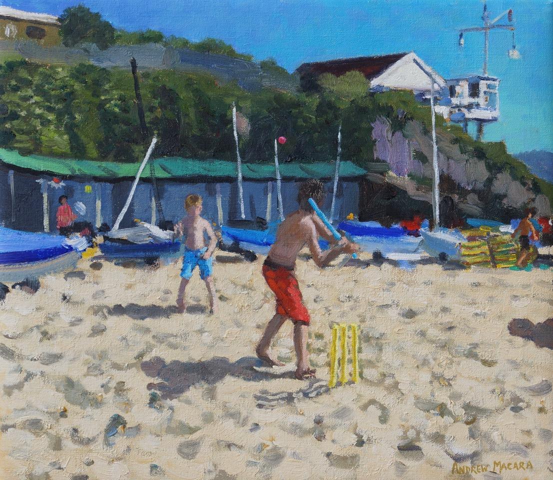 Andrew Macara, Yellow cricket  stumps, Abersoch