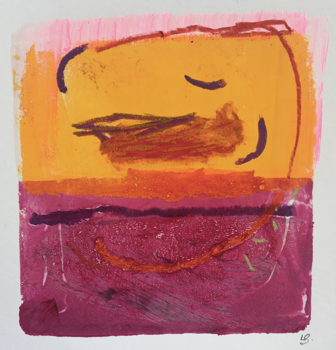 Lesley Birch, Yellow and Magenta