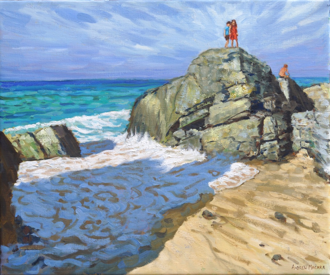 Andrew Macara, On top of the rocks, St Ives
