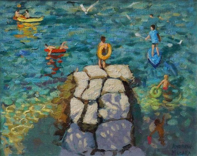 Andrew Macara, Playing in the sea, Croatia